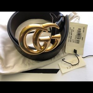 Used Gucci cocoa brown double G belt 90/36